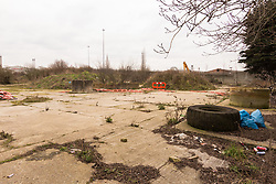 'Before' picture of brownfield land used for flytipping, Edmonton, that Enfield Council will transform to be Angel Gardens. London 2013. See DT-3 for 'after' picture