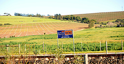 Cape Town-180818 A for sale sign in the farm  in Polkadraai road in Stellenbosch. Stellenbosch has seen a rise in land and farm and property for sale after the  Land expropriation without compensation debate  Pictures Ayanda Ndamane/African/news/agency ANA