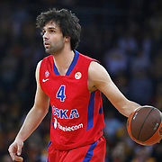 CSKA Moscow's Milos Teodosic during their Euroleague Top 16 basketball match Galatasaray MP between CSKA Moscow at the Abdi Ipekci Arena in Istanbul at Turkey on Thursday, February, 09, 2012. Photo by TURKPIX