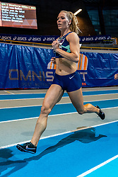 Nadine Broersen in action on 1000 meters during the Dutch Athletics Championships on 14 February 2021 in Apeldoorn