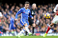 Eden Hazard of Chelsea in action. Premier league match, Chelsea v Arsenal at Stamford Bridge in London on Saturday 4th February 2017.<br /> pic by John Patrick Fletcher, Andrew Orchard sports photography.