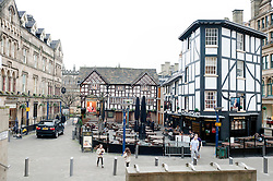 The Old Wellington Inn and Sinclairs Oyster Bar Cathedral Gates.Manchester M3 from Cateaton Street..www.pauldaviddrabble.co.uk..29 January 2012 -  Image © Paul David Drabble