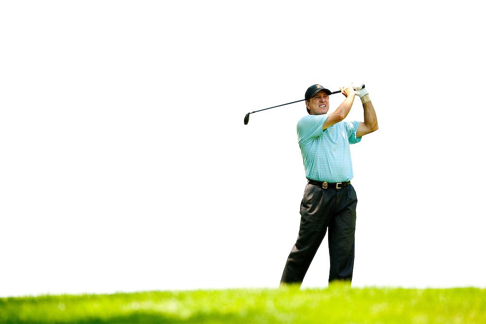 Gil Morgan. 2009 Senior PGA Championship, Round 3. Photographed at Canterbury Golf Club in Beachwood, Ohio on Saturday, May 23 2009. Photograph © 2009 Darren Carroll