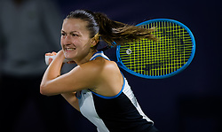 February 19, 2019 - Dubai, ARAB EMIRATES - Dalila Jakupovic of Slovenia in action during her second-round match at the 2019 Dubai Duty Free Tennis Championships WTA Premier 5 tennis tournament (Credit Image: © AFP7 via ZUMA Wire)