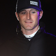 NASCAR Sprint Cup driver Kasey Kahne is seen during the driver introductions prior to the NASCAR Sprint Unlimited Race at Daytona International Speedway on Saturday, February 16, 2013 in Daytona Beach, Florida.  (AP Photo/Alex Menendez)