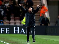 Middlesbrough manager Steve Agnew celebrates the victory over Sunderland - Mandatory by-line: Robbie Stephenson/JMP - 26/04/2017 - FOOTBALL - Riverside Stadium - Middlesbrough, England - Middlesbrough v Sunderland - Premier League