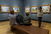 The old Bridge over the Nervia at Dolceacqua, 1884, and other Village and Picturesque paintings - The Credit Suisse Exhibition: Monet & Architecture a new exhibition in the Sainsbury Wing at The National Gallery.