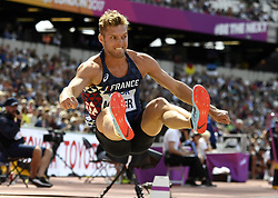 August 11, 2017 - Londres, Angleterre - LONDON , UNITED KINGDOM  - AUGUST 11 : Kevin Mayer of France '' Decathlon''  pictured during long jump at the16th IAAF World Athletics championships from august 4 till 13, 2017 in London ,United Kingdom, 09/08/2017 (Credit Image: © Panoramic via ZUMA Press)