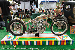 Ryan Grossman's survivor Harley-Davidson Panhead chopper Quicksilver at Born Free-7. Oak Canyon Ranch. Silverado, CA. USA. Saturday, June 27, 2015.  Photography ©2015 Michael Lichter.