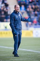 Dunfermline's manager Allan Johnston. Falkirk 1 v 1 Dunfermline, Scottish Championship game played 4/5/2017 at The Falkirk Stadium.