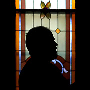 Pastor Paul Reichert gives a tour around the sanctuary of St. Martin's Lutheran Church in Archbold, Ohio, on Wednesday, July 25, 2018. The church was founded in founded in 1866, which is the same year that the Village of Archbold was established.  THE BLADE/KURT STEISS