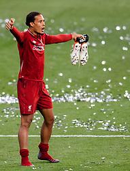 June 2, 2019 - Madrid, Spain - 190602 Virgil van Dijk of Liverpool celebrate after the UEFA Champions League final between Tottenham and Liverpool on June 2, 2019 in Madrid..Photo: Petter Arvidson / BILDBYRÃ…N / kod PA / 92302 (Credit Image: © Petter Arvidson/Bildbyran via ZUMA Press)