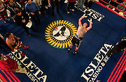 Steven St. John/Tribune..Johnny Tapia tries the first of many failed attempts to do a flip after defeating Evaristo Primero on Friday night, Feb. 22, 2007 at Isleta Casino.