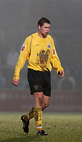 Photo: Alan Crowhurst.<br />Wycombe Wanderers v Rochdale. Coca Cola League 2.<br />10/12/2005. <br />Rochdale player Grant Holt leaves the field after being shown a red card.