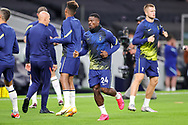 Tottenham Hotspur defender Serge Aurier (24) warms up during the EFL Cup Fourth Round match between Tottenham Hotspur and Chelsea at Tottenham Hotspur Stadium, London, United Kingdom on 29 September 2020.
