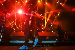 Emicida se apresenta no Palco Atlântida durante a 22ª edição do Planeta Atlântida. O maior festival de música do Sul do Brasil ocorre nos dias 3 e 4 de fevereiro, na SABA, na praia de Atlântida, no Litoral Norte gaúcho.  Foto: Lucas Uebel / Agência Preview