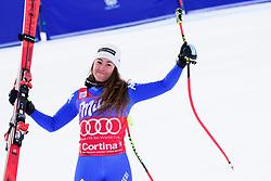 January 19, 2018 - Cortina D'Ampezzo, Dolimites, Italy - Sofia Goggia of Italy celebrating her victory at the Cortina d'Ampezzo FIS World Cup in Cortina d'Ampezzo, Italy on January 19, 2018. (Credit Image: © Rok Rakun/Pacific Press via ZUMA Wire)