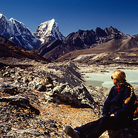Imja Valley, Nepal with Taboche and Cholatse in the background.