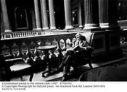 A Gentleman asleep in the reform club. 1987<br /> 87541fr2. © Copyright Photograph by Dafydd Jones<br />66 Stockwell Park Rd. London SW9 0DA<br />Tel 0171 733 0108