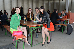 Left to right, ELLA CATLIFF, OLIVIA GRANT, AMBER LE BON and LILAH PARSONS at a supper and screening of 'No More Tiaras' a film by Mary Nighy held at Shrimpy's, King's Cross Filling Station, Goods Way, London on 7th May 2014.