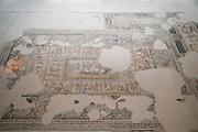 Dionysus Mosaic, Mosaic floor of the roman villa. Israel, Lower Galilee, Zippori National Park The city of Zippori (Sepphoris) A Roman Byzantine period city with an abundance of mosaics