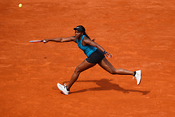 June 3, 2018 - Paris, U.S. - PARIS, FRANCE  - JUNE 03: SLOANE STEPHENS (USA) during the French Open on June 03, 2018, at Stade Roland-Garros in Paris, France.(Photo by Chaz Niell/Icon Sportswire) (Credit Image: © Chaz Niell/Icon SMI via ZUMA Press)