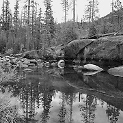 Merced River - Little Yosemite Valley - Yosemite - Black & White