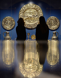 Review of the Year 2017: December: The Alter dish (centre) and plates which are on display at the new Charles II: Art and Power exhibition at the Queen's Gallery in London.