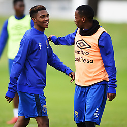 Cape Town-180801-Cape Town City's Gift Links and Bradley Ralani at training session at Hartleyvale Stadium, ahead of their opening game of the 2018/2019 PSL season against Supersport United at Cape Town Stadium on saturday.Photograph:Phando Jikelo/African News Agency/ANA