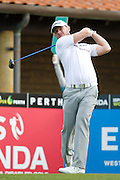 February 16th 2017, Lake Karrinyup Country Club, Perth, Western Australia, Australia; ISPS Handa World Super 6 Perth Golf Tournament Day 1; Scott Henry (SCO) tees off from the 1st on day one of the ISPS Handa World Super 6 tournament;