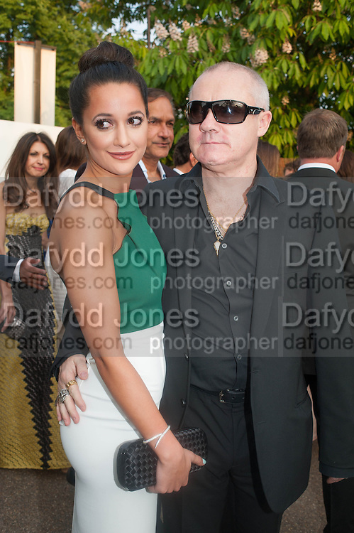 ROXIE NAFOUSI; DAMIEN HIRST, The Serpentine Summer Party 2013 hosted by Julia Peyton-Jones and L'Wren Scott.  Pavion designed by Japanese architect Sou Fujimoto. Serpentine Gallery. 26 June 2013. ,