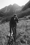 A fantastic fall afternoon at the Maroon Bells for Kim and Mark's engagement.