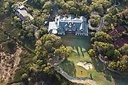 Aerial view of the River Course Golf club on Kiawah Island, South Carolina.