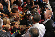 Oct 29, 2010. Oct 29, 2010. President Barack Obama shakes hands with excited audience members after a campaign rally for Virginia 5th District Representative Congressman Tom Perriello Friday at the Charlottesville Pavilion in downtown Charlottesville, Va. Photo/Andrew Shurtleff