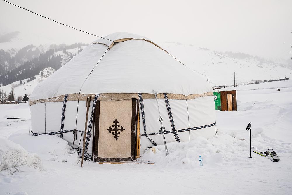 The Baitor Guesthouse Yurt Camp, Jyrgalan, Kyrgyzstan.