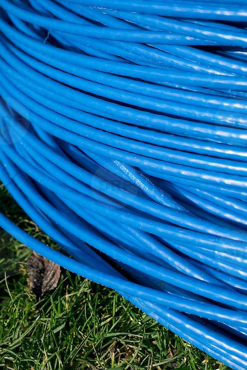 Nederland Rotterdam 19 maart 2008 20080319 .Closeup glasvezel kabels..Foto David Rozing