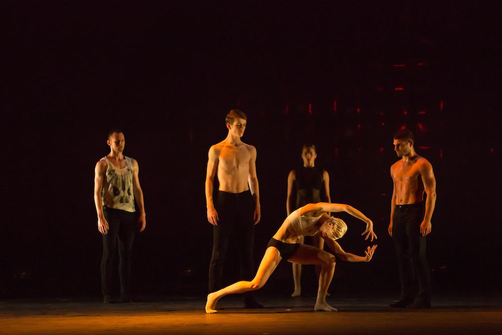 """Dancers in Wen Wei Wang's """"Night Box."""""""