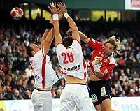 Håndball<br /> Supercup <br /> 31.10.2009<br /> Danmark v Norge<br /> Foto: Witters/Digitalsport<br /> NORWAY ONLY<br /> <br /> v.l. Lars Jørgensen, Torsten Laen, Kenneth Klev Norwegen