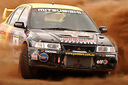 Scott Pedder & Paul Humm.Mitsubishi Lancer Evo VI.2003 Rally of Canberra .Canberra, ACT, Australia.25-27th of April 2003.(C) Joel Strickland Photographics