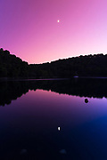 Soline at dusk, Mljet Island National Park, Dalmatia, Croatia