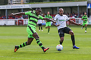 Forest Green Rovers Dale Bennett (6) shoots at goal during the Vanarama National League match between Dover Athletic and Forest Green Rovers at Crabble Athletic Ground, Dover, United Kingdom on 10 September 2016. Photo by Shane Healey.