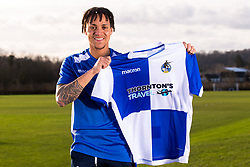 Kyle Bennett signs for Bristol Rovers on January Transfer Deadline Day - Mandatory by-line: Robbie Stephenson/JMP - 01/02/2018 - FOOTBALL - The Lawns Training Ground - Bristol, England - Kyle Bennett signs for Bristol Rovers