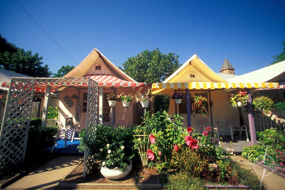 Platform tents in Ocean Grove, New Jersey.