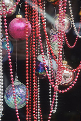Washington, Bellevue, Christmas ornaments and beads