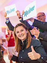 22.04.2018, Salzburg, AUT, Salzburger Landtagswahl, Wahlparty, im Bild FPÖ Spitzenkandidatin Marlene Svazek // during the election party the FPÖ for the state election 2018 at the Salzburg, Austria on 2018/04/22. EXPA Pictures © 2018, PhotoCredit: EXPA/ JFK