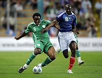 Fotball<br /> Frankrike v Nigeria<br /> Foto: DPPI/Digitalsport<br /> NORWAY ONLY<br /> <br /> FOOTBALL - FRIENDLY GAMES 2008/2009 - FRANCE v NIGERIA - 2/06/2009 <br /> <br /> OLUBAYO ADEFEMI (NIG) / ALOU DIARRA (FRA)