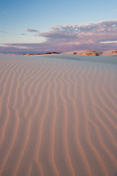 Clouds and dunes, Monahans Sandhills State Park, Texas, USA.