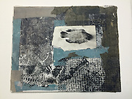 Acrylic Collage on panel<br /> 8 x 10