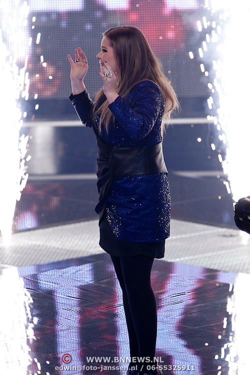 NLD/Hilversum/20120120 - Finale the Voice of Holland 2012, Iris Kroes winnares
