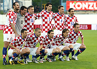 Fotball<br /> 06.06.2009<br /> Kroatia v Ukraina<br /> Foto: Gepa/Digitalsport<br /> NORWAY ONLY<br /> <br /> Bild zeigt die Mannchscaft von Kroatien mit Dino Drpic, Vedran Runje, Ivica Olic, Vedran Corluka, Robert Kovac, Ivan Juric (hinten), Darijo Srna, Mladen Petric, Danijel Pranjic, Luka Modric und Ivan Rakitic (vorne)<br /> Lagbilde Kroatia